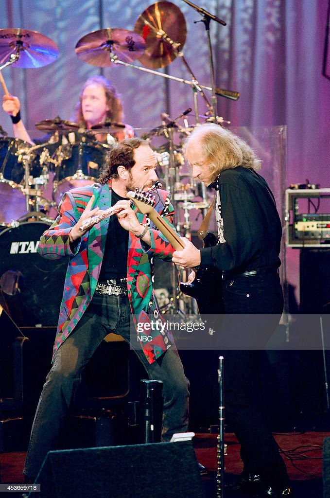 Musical guest <a gi-track='captionPersonalityLinkClicked' href=/galleries/search?phrase=Jethro+Tull&family=editorial&specificpeople=615836 ng-click='$event.stopPropagation()'>Jethro Tull</a> performs on March 28, 1993 --