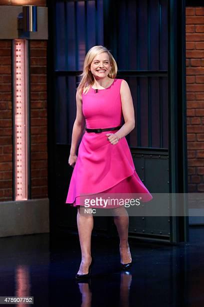 Actress Elisabeth Moss arrives on June 4 2015