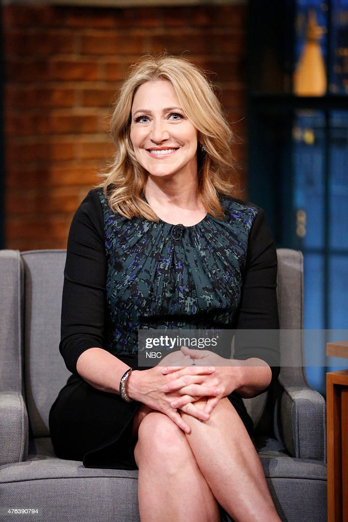 Actress <a gi-track='captionPersonalityLinkClicked' href=/galleries/search?phrase=Edie+Falco&family=editorial&specificpeople=202111 ng-click='$event.stopPropagation()'>Edie Falco</a> during an interview on June 8, 2015 --
