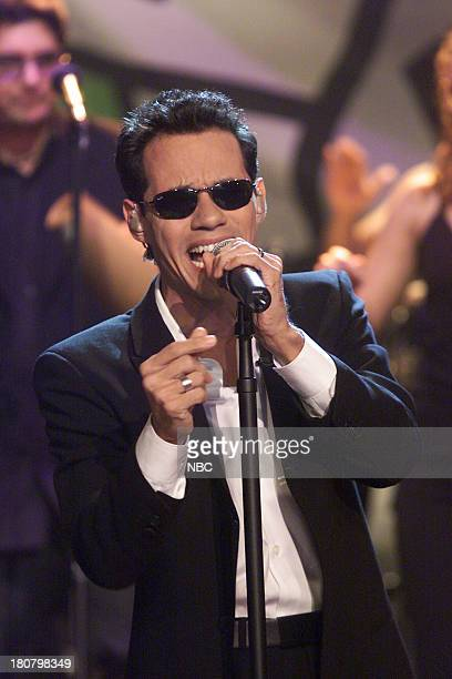 Musical guest Marc Anthony performs on November 20 2001