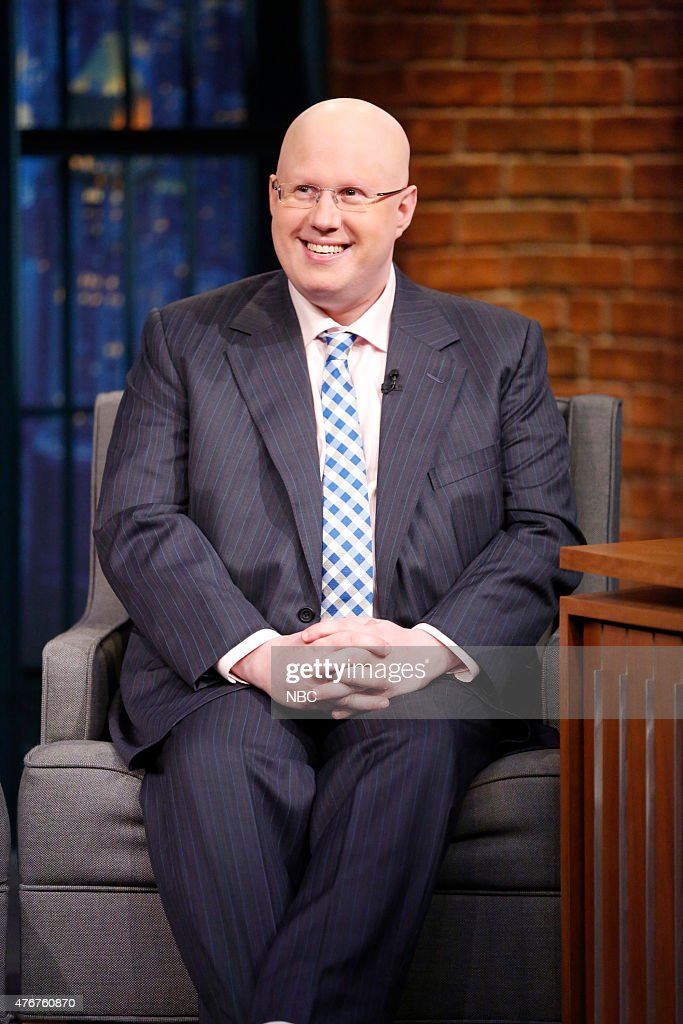 Comedian <a gi-track='captionPersonalityLinkClicked' href=/galleries/search?phrase=Matt+Lucas+-+Comedian&family=editorial&specificpeople=204202 ng-click='$event.stopPropagation()'>Matt Lucas</a> during an interview on June 11, 2015 --