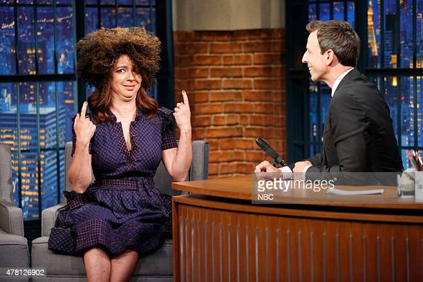 Comedian Maya Rudolph during an interview with host Seth Meyers on June 22 2015