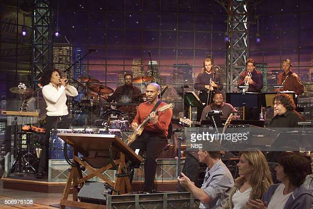 Guitarist Kevin Eubanks performs with the Tonight Show Band on April 15 2002