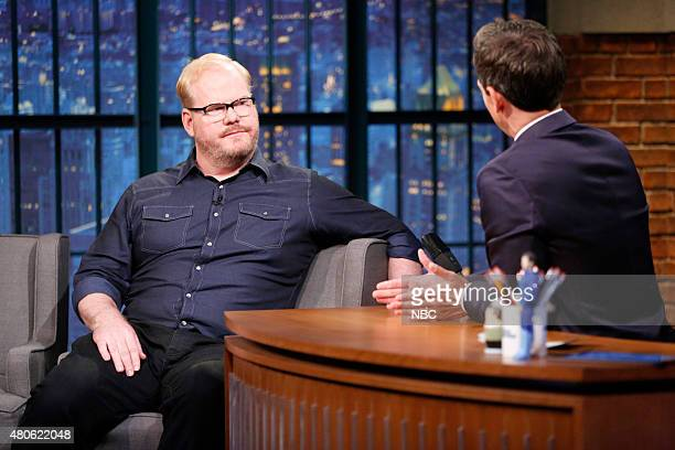 Comedian Jim Gaffigan during an interview with host Seth Meyers on July 13 2015