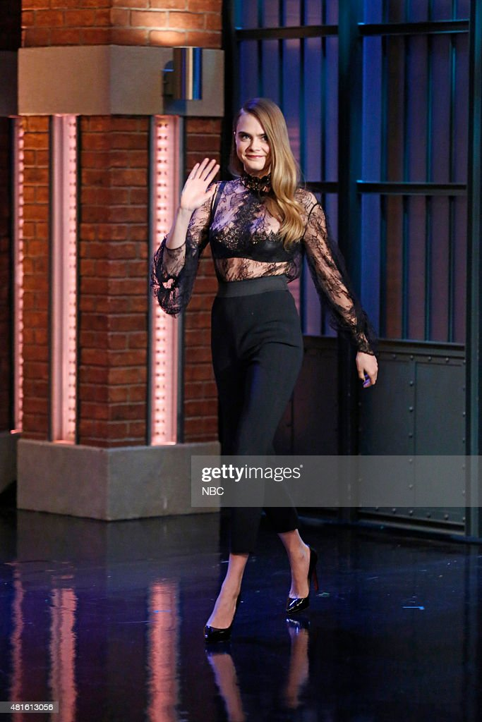 """NBC""""s """"Late Night with Seth Meyers"""" With Guests Rachel Maddow, Cara Delevingne, Neon Trees"""