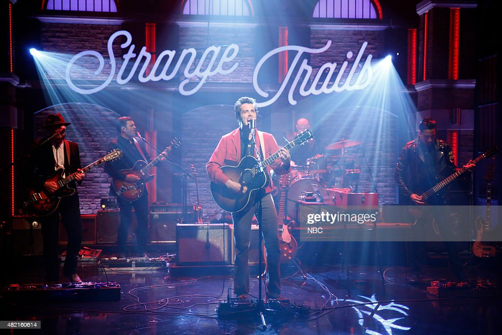 Tom Renaud Ben Schneider Mark Barry and Miguel Briseno of musical guest Lord Huron perform on July 27 2015