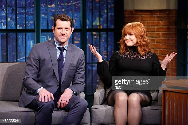 Comedians Billy Eichner and Julie Klausner during an interview on July 28 2015