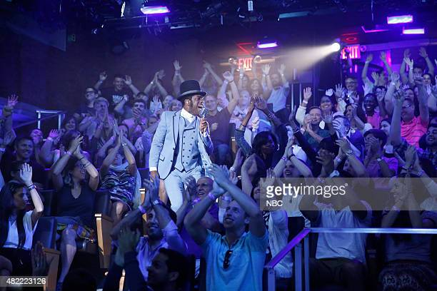 Ty Taylor of musical guest Vintage Trouble performs on July 28 2015