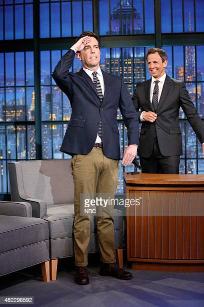 Actor Ed Helms during an interview with host Seth Meyers on July 29 2015