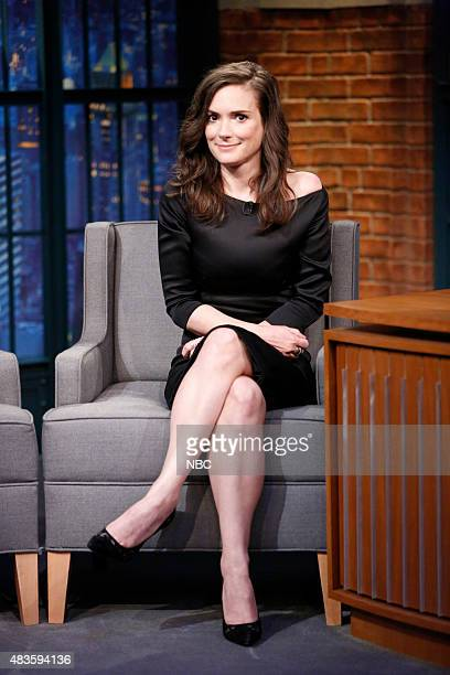 Actress Winona Ryder during an interview on August 10 2015