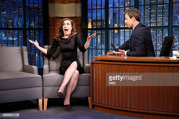 Actress Winona Ryder during an interview with host Seth Meyers on August 10 2015