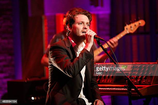 Zach Condon of musical guest Beirut performs on August 10 2015