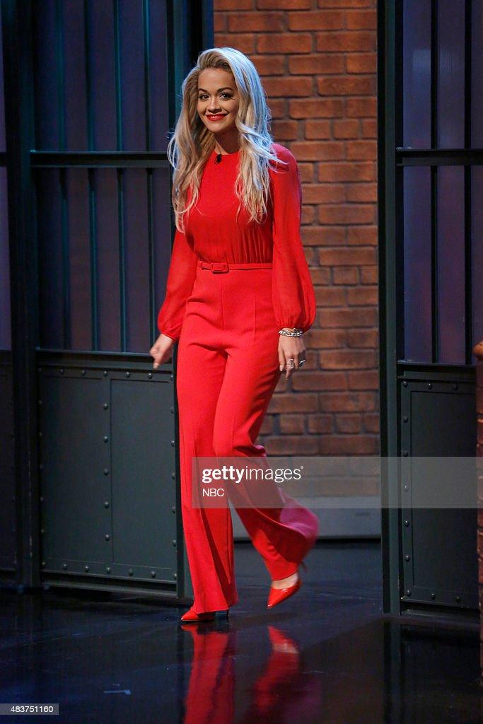 Singer Rita Ora arrives on August 12 2015