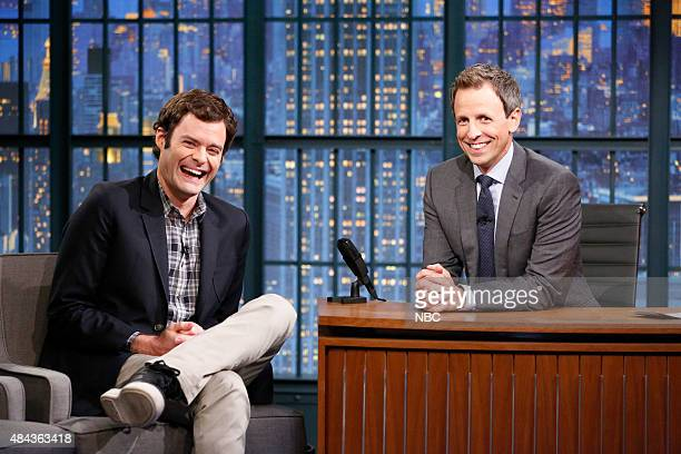Actor Bill Hader during an interview with host Seth Meyers on August 17 2015