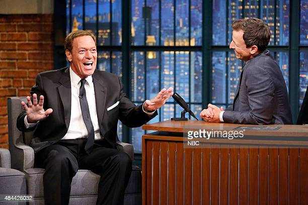 Comedian Joe Piscopo during an interview with host Seth Meyers on August 18 2015