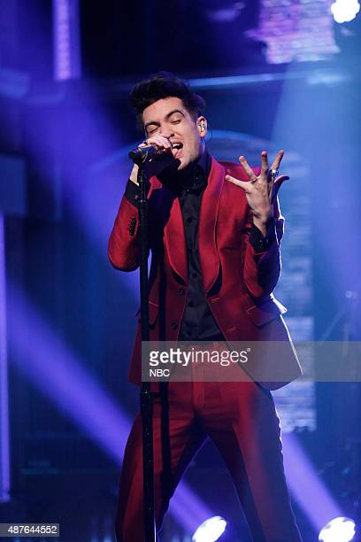 Brendon Urie of Panic At the Disco performs on September 10 2015