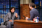 Director M Night Shyamalan during an interview with host Seth Meyers on September 11 2015