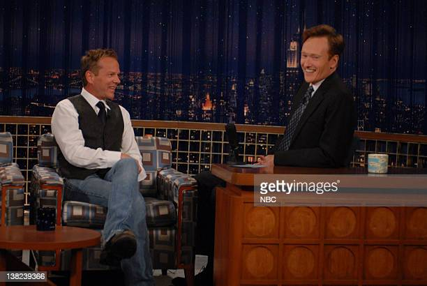 BRIEN Episode 2622 Airdate Pictured Kiefer Sutherland Conan O'Brien