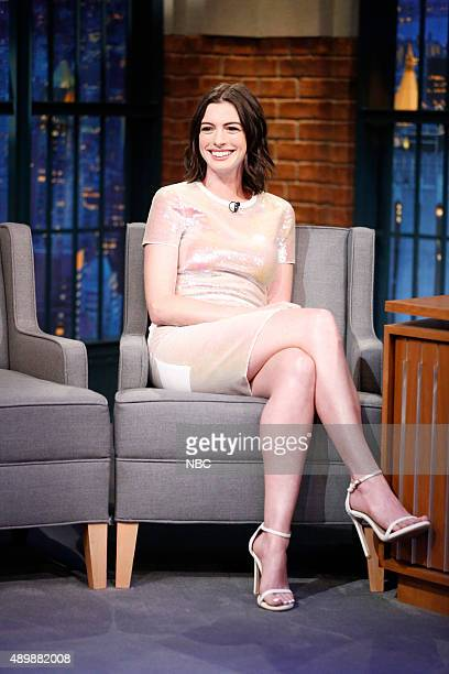 Actress Anne Hathaway during an interview on September 24 2015