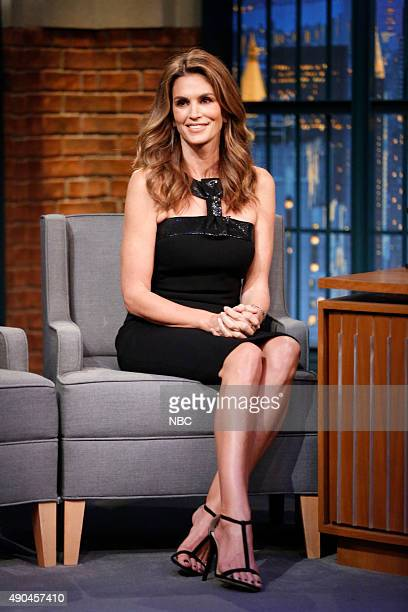 Model Cindy Crawford during an interview on September 28 2015