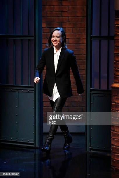 Actress Ellen Page arrives on October 1 2015