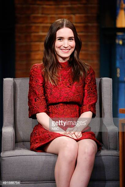 Actress Rooney Mara during an interview on October 6 2015