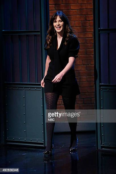Actress Zooey Deschanel arrives on October 15 2015
