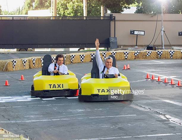 Jimmy Fallon races host Jay Leno in gokarts on September 22 2004
