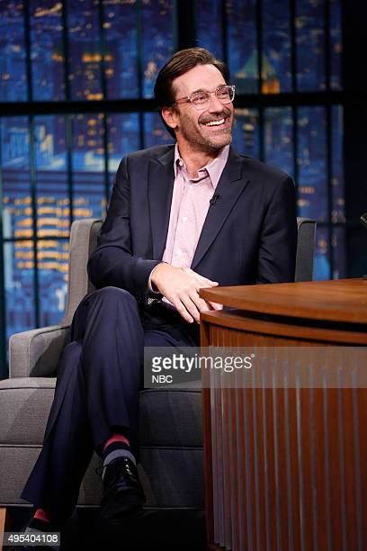 Actor Jon Hamm during an interview on November 2 2015