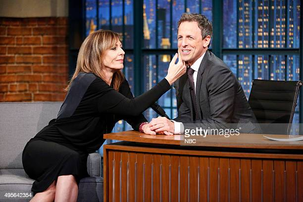 Actress Allison Janney during an interview with host Seth Meyers on November 3 2015