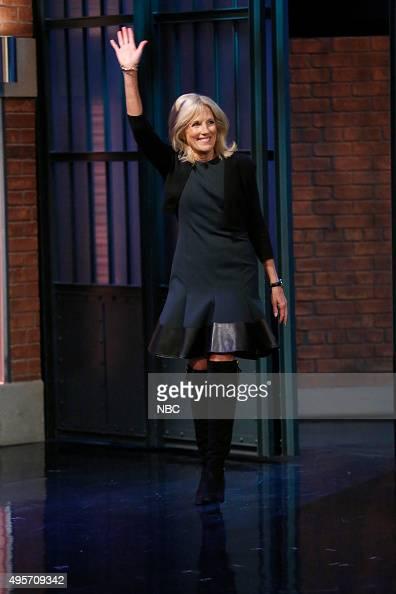 Dr Jill Biden arrives on November 4 2015