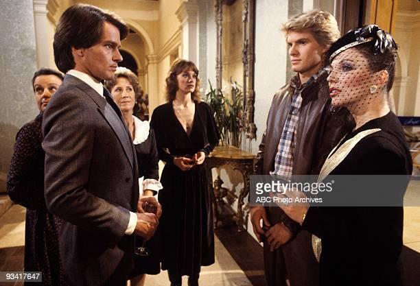 DYNASTY 'Episode' 2/8/83 Extra Gordon Thomson Extra Pamela Sue Martin Jack Coleman Joan Collins