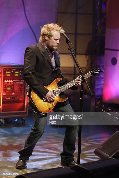 Guitarist Matt Roberts of band 3 Doors Down performs on March 2 2005