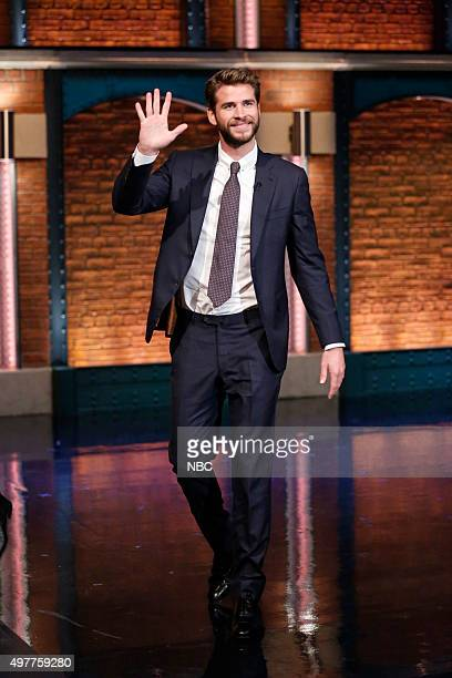 Actor Liam Hemsworth arrives on November 18 2015