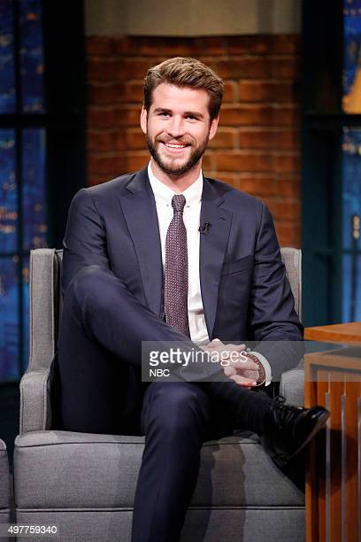 Actor Liam Hemsworth during an interview on November 18 2015