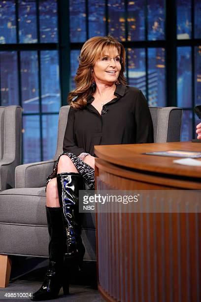 Governor Sarah Palin during an interview on November 18 2015