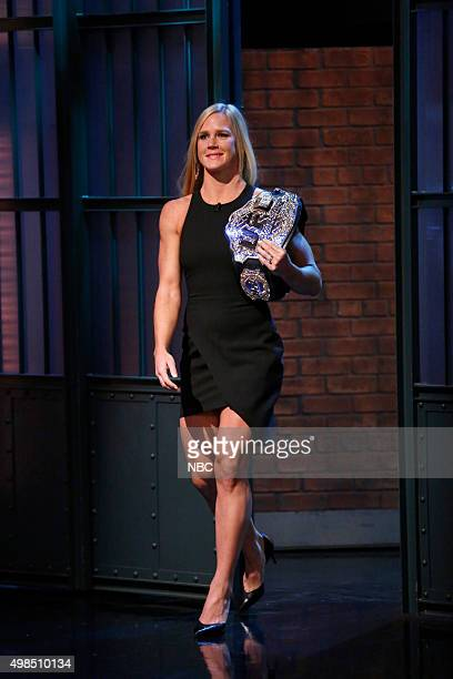 Holly Holm UFC Women's Bantamweight Champion arrives on November 18 2015