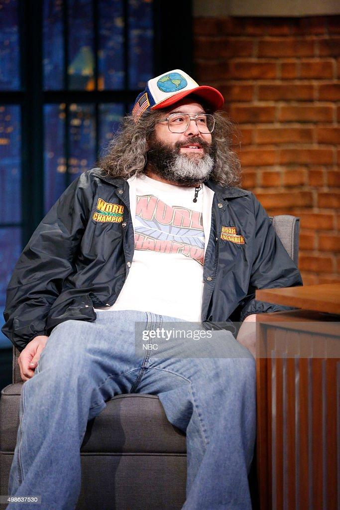 Actor/comedian Judah Friedlander during an interview on November 24 2015