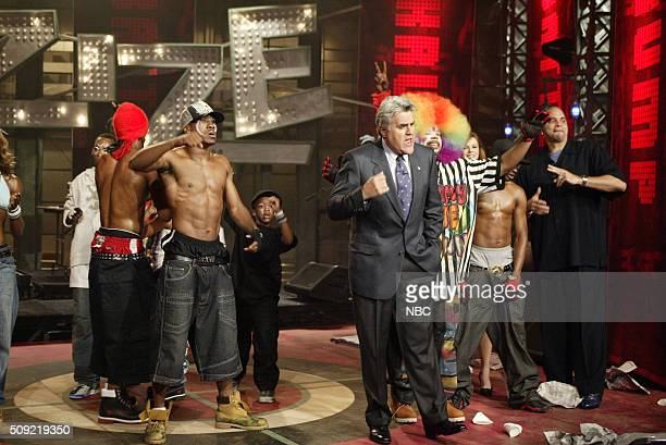 Host Jay Leno and dancers from the film Rize on June 21 2005