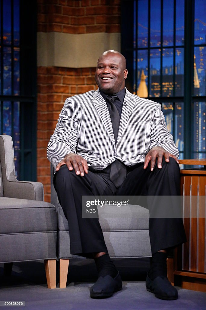 Former basketball player Shaquille O'Neal during an interview on December 7 2015