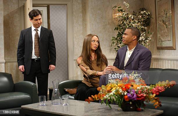 LIVE Episode 3 Air Date Pictured Chris Parnell as Paul the lawyer Maya Rudolph as Vanessa Laine Finesse Mitchell as Kobe Bryant during 'Kobe's Press...