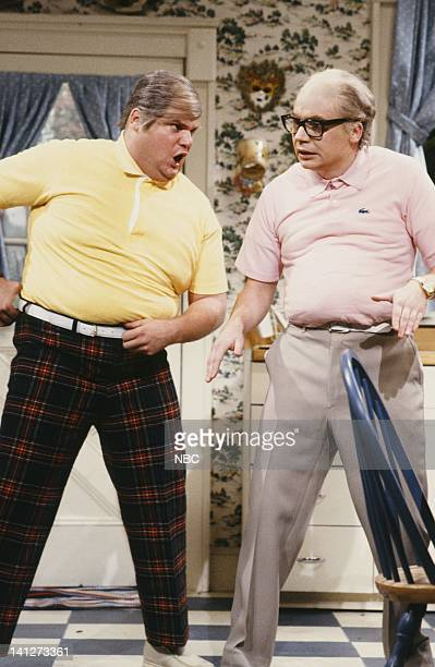 Chris Farley as Drinkin' Buddy Mike Myers as MiddleAged Man during the 'MiddleAged Man' skit on October 20 1990 Photo by Alan Singer/NBCU Photo Bank