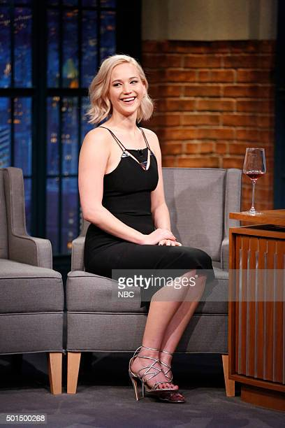 Actress Jennifer Lawrence during an interview on December 15 2015