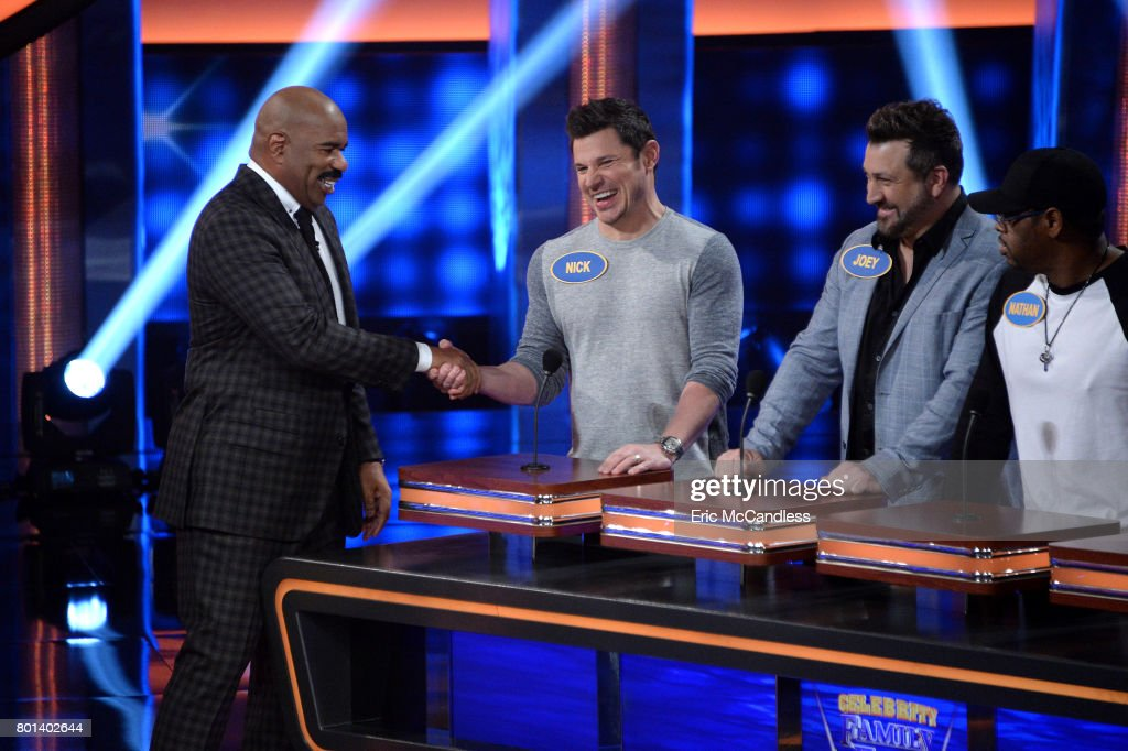 FEUD - 'Episode 304' - 'Neil deGrasse Tyson vs Rick Fox and Boy Band vs Girl Group'- The celebrity teams competing to win cash for their charities features the families of cosmologist, author and astrophysicist Neil deGrasse Tyson and NBA Champion, actor and businessman Rick Fox. In a separate game, a boy-band team will take on girl-group members. This episode of 'Celebrity Family Feud' airs SUNDAY, JULY 16 (8:00-9:00 p.m. EDT), on The ABC Television Network. STEVE