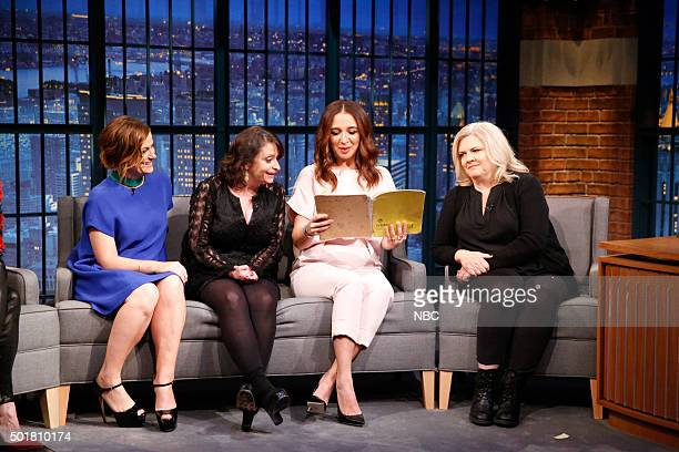 Amy Poehler Rachel Dratch Maya Rudolph and Paula Pell during an interview on December 17 2015