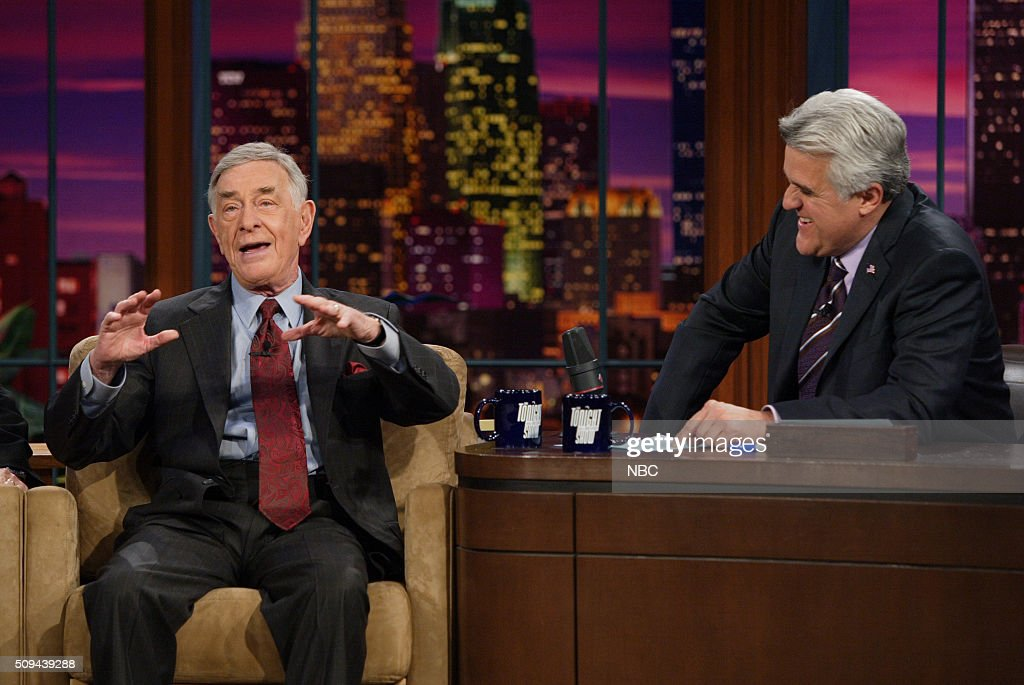 Comedian Shelley Berman during an interview with host Jay Leno on November 17, 2005 --