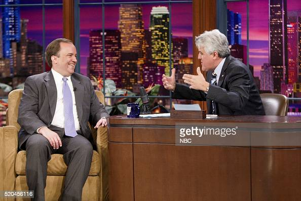 Former White House Press Secretary Scott McClellan during an interview with host Jay Leno on May 16 2006