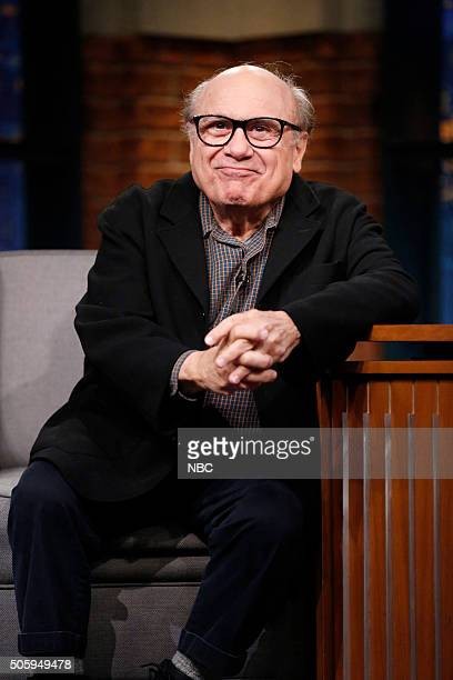 Actor Danny DeVito during an interview on January 20 2016
