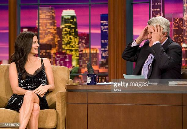 Courteney CoxArquette and Jay Leno