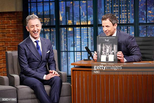 Actor Alan Cumming during an interview with host Seth Meyers on February 3 2016